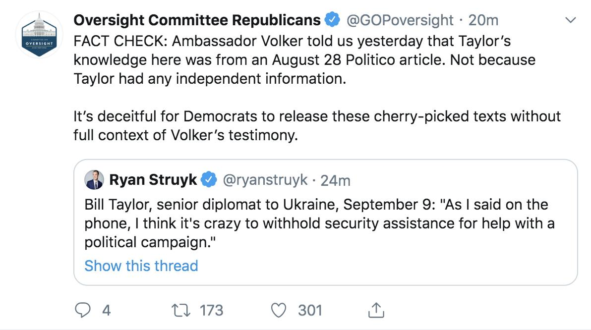 We noticed the original tweet was deleted after we posted our fact check. Heres a screenshot, in case you missed it. Truth hurts. twitter.com/GOPoversight/s…