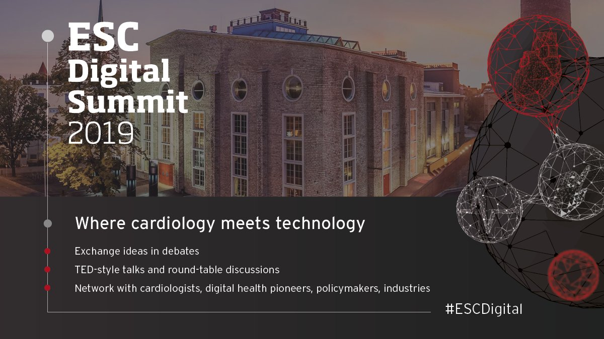 Looking forward to finding out everything about #digitalhealth at the #ESCDigital Summit 2019 in Tallinn this weekend, 5-6 October! Prof. Mayr will give a talk on #omics in the 21st century!