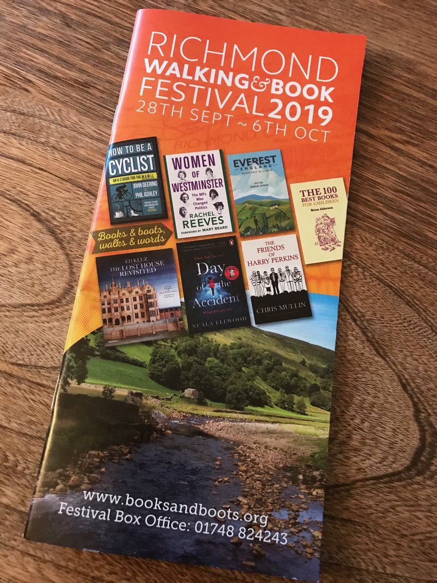 """After a busy few days in Leeds I'm pleased to be in Richmond for their lovely Walking & Book festival to talk """"women in politics"""". Amazing contributions in the last few weeks from Baroness Hale, @thatginamiller @GretaThunberg and this week @RosieDuffield1"""