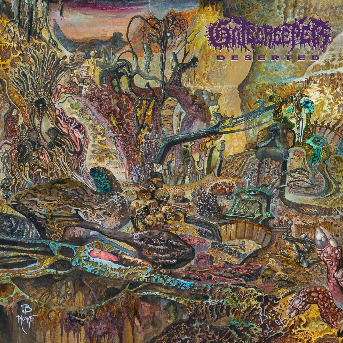 Wow. Look at that glorious @Gatecreeper artwork by Brad Moore. Out now via the legendary @RelapseRecords spoti.fi/356n7zz