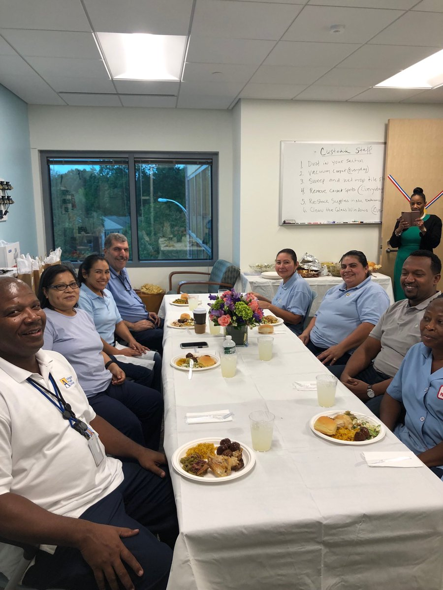 We are so thankful for the work that the custodial team and building manager do at Syphax.  They take tremendous pride and joy in doing their work!  Here they are enjoying a homemade lunch prepared by the Syphax Administrative Executive Team.   Delicious! <a target='_blank' href='https://t.co/e50f66uQUb'>https://t.co/e50f66uQUb</a>