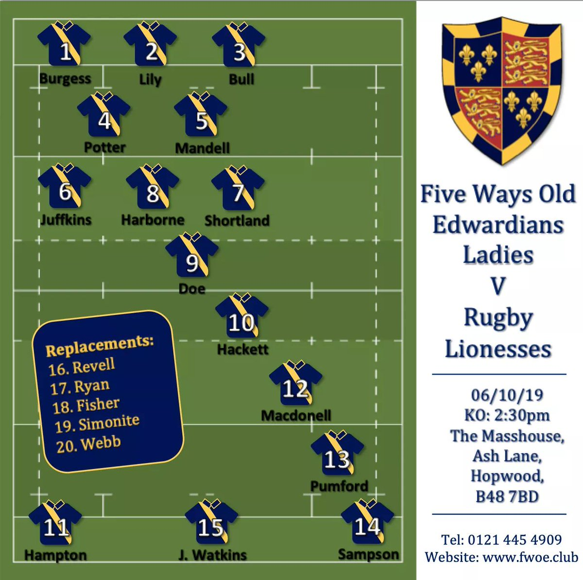 1st home game of the season 💙💛🏉 #womensrugby #rugbysisters #eggchasers #thisgirlcan #innerwarrior