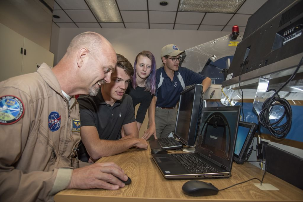 """Interns from three NASA centers spent their summer competing to develop a laptop flight simulator of the X-59 aircraft. The final models were judged in a """"fly-off"""" by actual X-59 test pilots. Find out the winners and download the simulations: go.nasa.gov/2pDlrgN"""