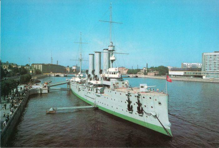 Подростку, открытка крейсер аврора 66