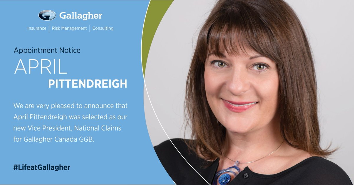 April began her insurance career with us 25 years ago. In her new role at Gallagher, April will further build upon our current claims expertise & strengths to create a best in class national claims advocacy team for Gallagher Global Brokerage. #LifeatGallagher #GallagherinCanada
