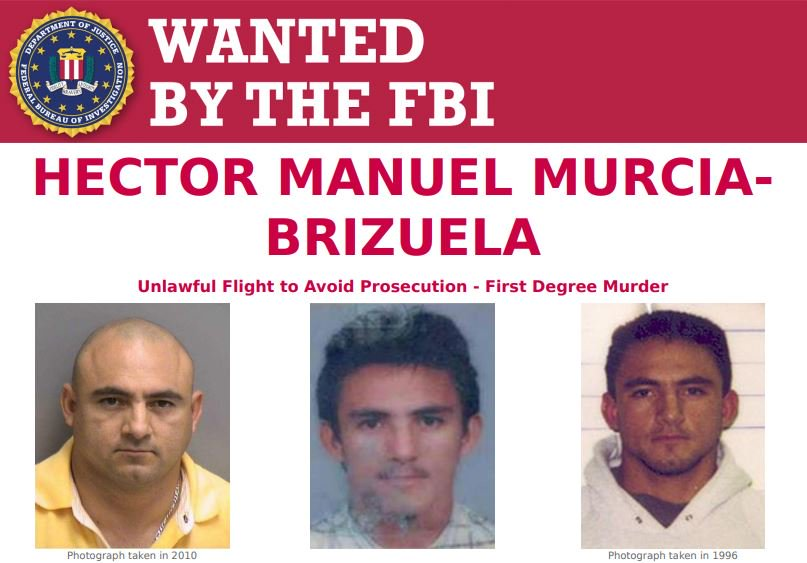 Help the #FBI find Hector Manuel Murcia-Brizuela, who is #wanted for murdering a man in July 2006. If you have information about Murcia-Brizuela, call your local FBI office or the nearest U.S. Embassy or Consulate. #FugitiveFriday ow.ly/T80m50wAXcc