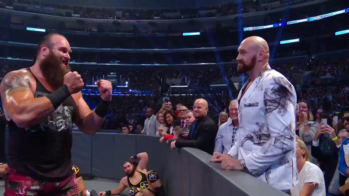 Tyson Fury makes surprise WWE appearance, tries to fight Braun Strowman