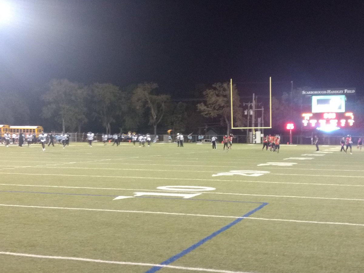Friday night Football in Fort Worth at Scarborough-Handley Field. Polly hosting O D Wyatt