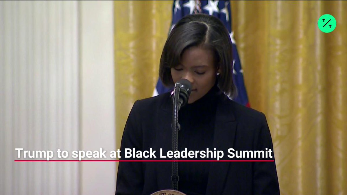 """""""Trump has both the spine and the audacity to save Black America,"""" @RealCandaceO says at the Young Black Leadership Summit at the White House.  She goes on to criticize Maxine Waters and calls CNN a racist network https://t.co/n7J7OtwC8M"""
