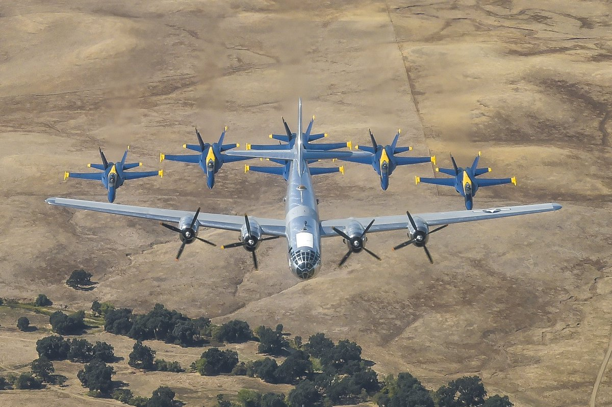 Prior to the California Capital Airshow, we had the honor and privilege of taking to the skies with Doc, the B-29 Superfortress bomber. Delivered to the Army in 1944, Doc is one of two remaining B-29s that are capable of flying. #CaliforniaCapitalAirshow #USNavy #USMC