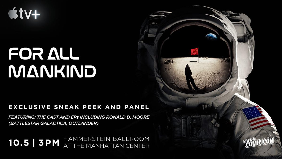 Hope you can join me for both the @forallmankind_ and @Outlander_STARZ panels at @NY_Comic_Con tomorrow!