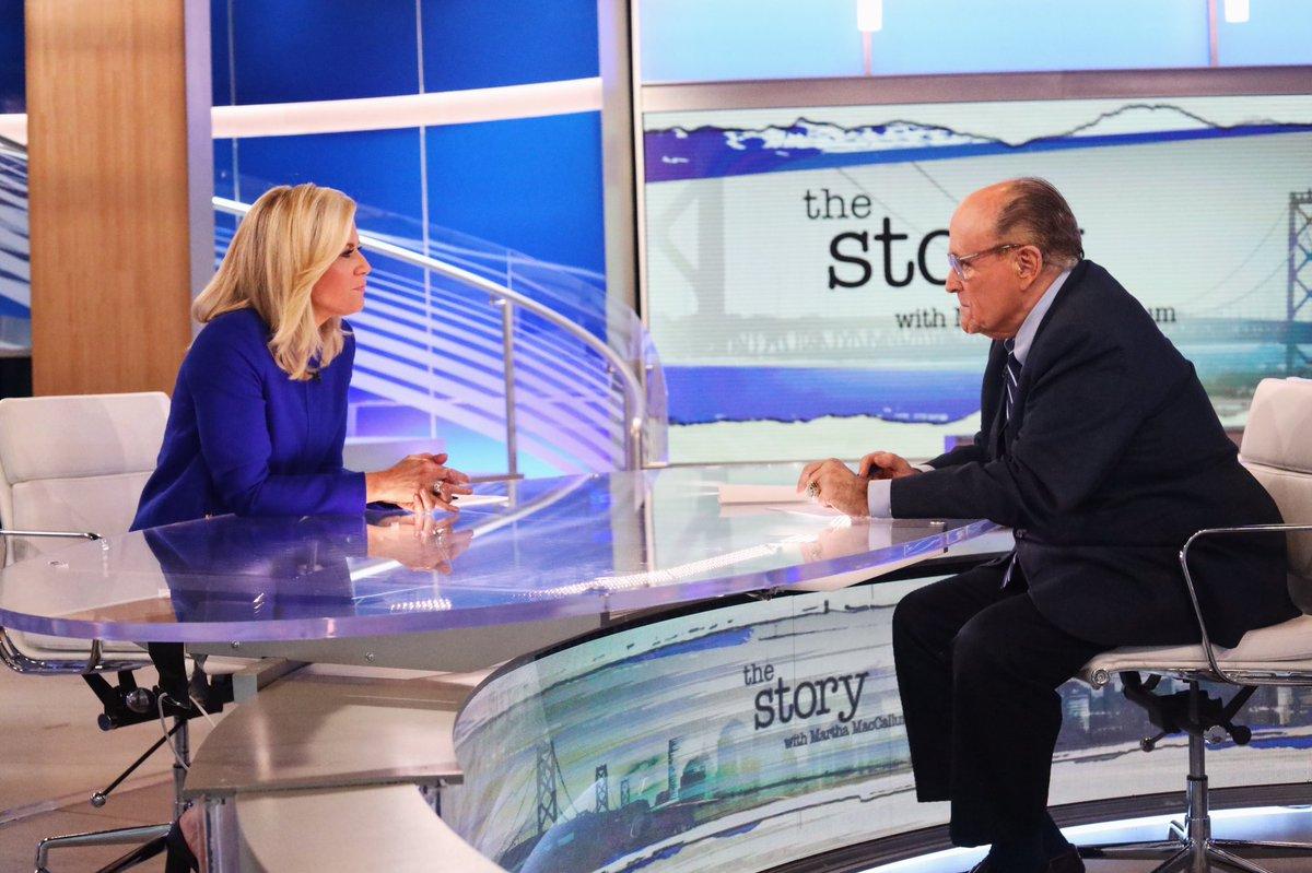 7PM TONIGHT: New York City Mayor @RudyGiuliani joins me on #TheStory. @TheStoryFNC @FoxNews