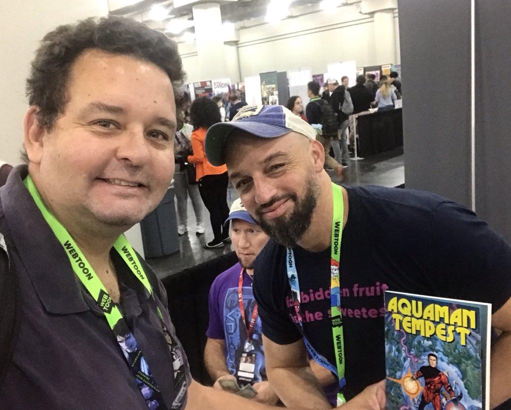 Great to meet artist Phil Jimenez! @Philjimeneznyc @LatinoComixExpo @NBCLatino @PRparadeNYC @NY_Comic_Con