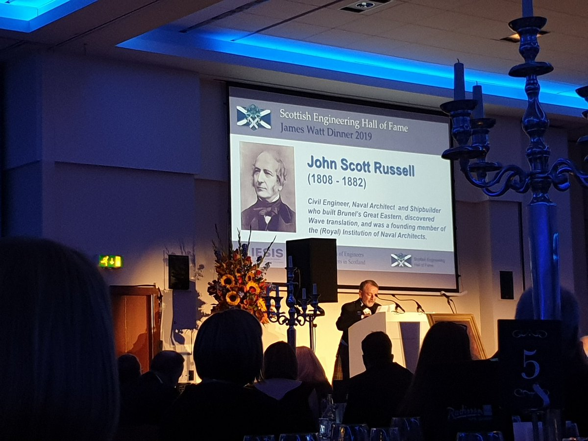 I've always been secretly proud of managing to write about the soliton wave discovery within a running book. So very pleased to see John Scott Russell recognised tonight at @iesis1857 James Watt dinner. #physics #engineering #canalrunning pic.twitter.com/N79z01gnKV
