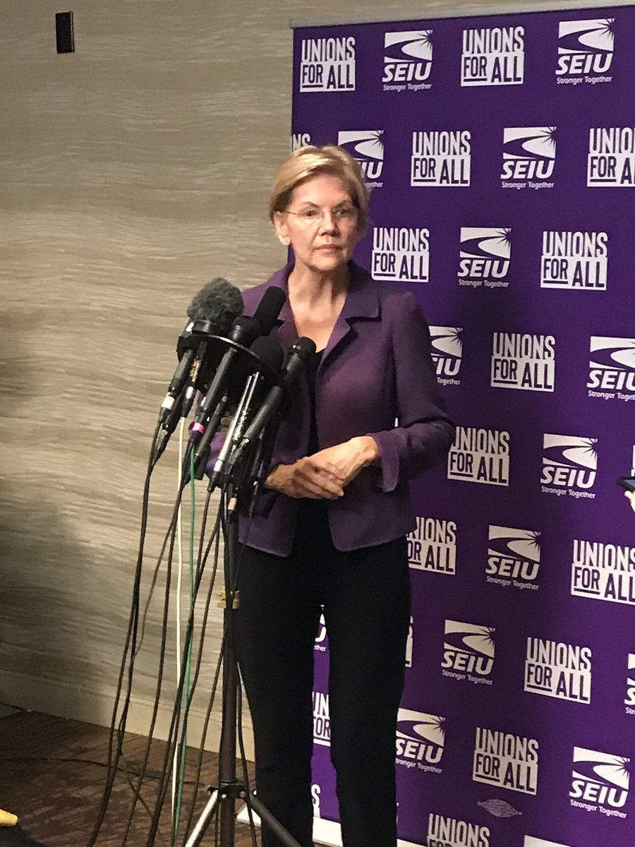 """REPORTER: Have you seen enough evidence to vote to convict Donald Trump and remove him from office? ELIZABETH WARREN: """"Yes."""""""