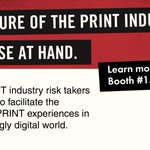 Image for the Tweet beginning: The print industry has been