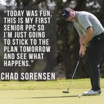 Image for the Tweet beginning: Chad Sorensen fires second round
