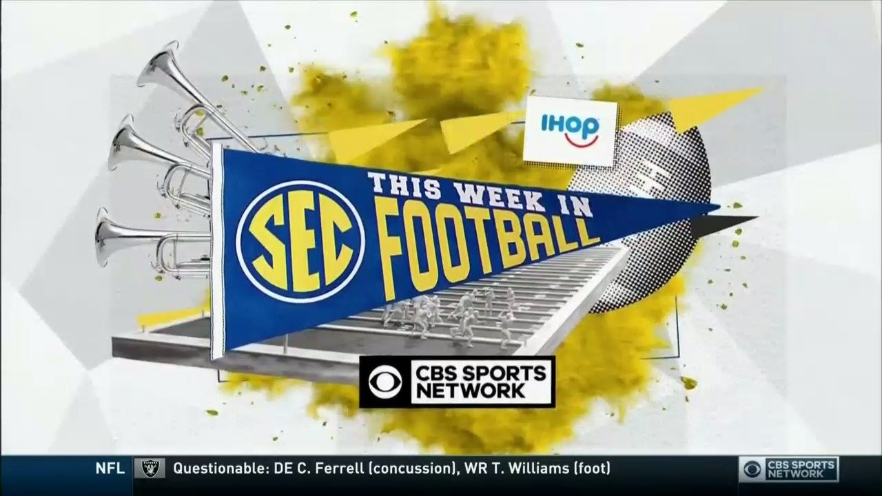 Cbs Sports Network On Twitter It S Time For This Week In Sec Football On Cbs Sports Network