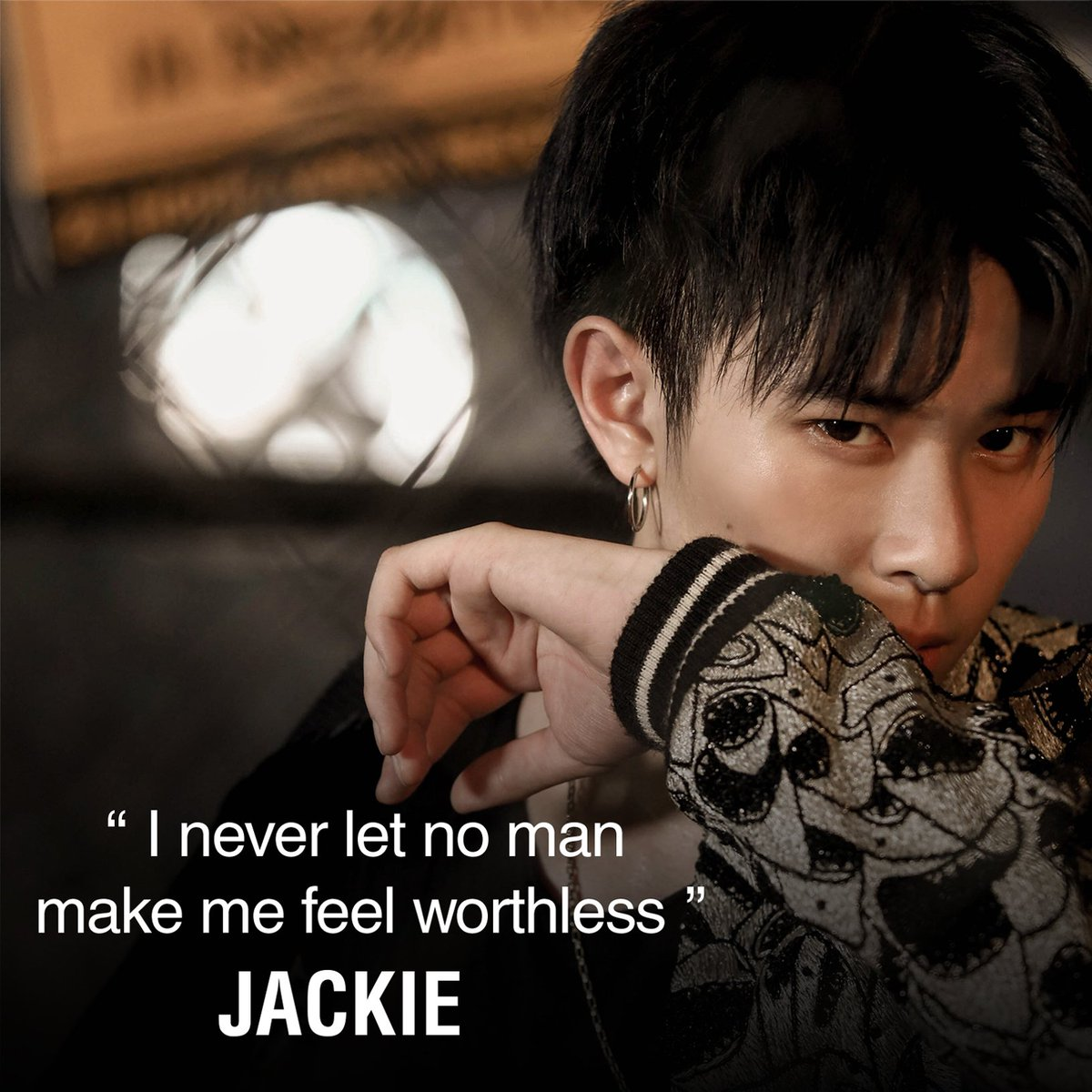 """""""I never let no man make me feel worthless""""  - Jackie  . Watch TRINITY 