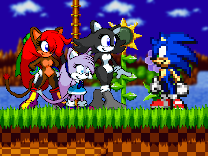 Mollyketty Birthday In Two Weeks On Twitter Molly Ketty Valery And Kerstin Sprites Made By Deviantart User Dorkyguy Sonic Sprite From Sonic Advance 2 Edited By Me Green Hill Zone Background And