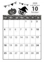 10 月 カレンダー 2020