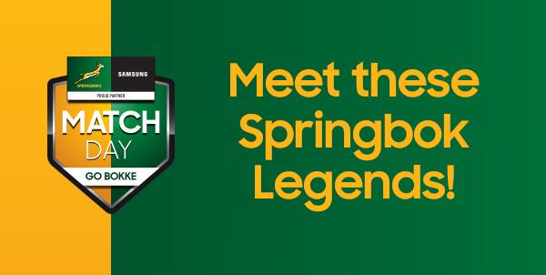 Meet these @Springboks legends from 10am-1pm today! 🏉 @jppietersen14 @HirschHomestore Umhlanga 🏉 @BakkiesBotha4 @HirschHomestore Strubensvalley 🏉 Neil de Kock @HirschHomestore Milnerton 🏉 @CorneKrige6 at the #SamsungStore @canal_walk 🏉 @osdurandt @KloppersSA Bloemfontein