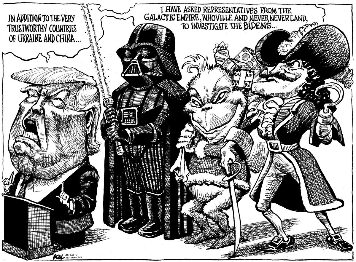 Political Cartoon On Twitter Kal Stable Genius At Work