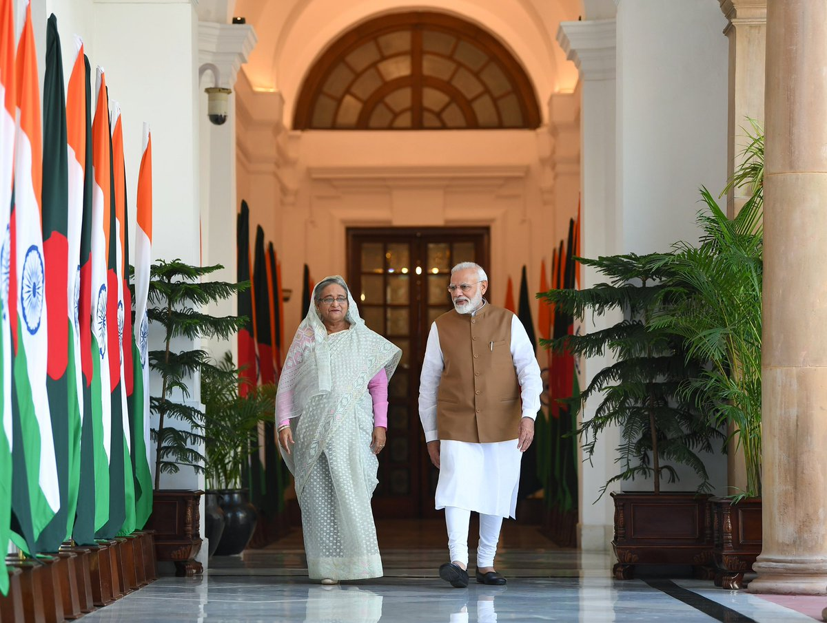 Had an excellent meeting with PM Sheikh Hasina. We reviewed the full range of bilateral ties between India and Bangladesh.