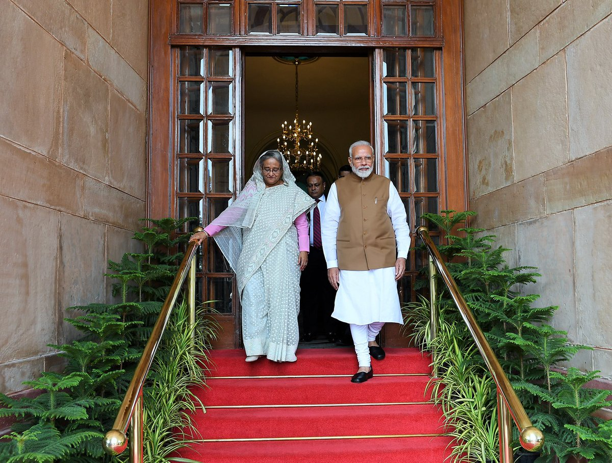 This visit of PM Sheikh Hasina has led to remarkable outcomes for India-Bangladesh cooperation in the areas of water resources, energy, trade, ports and more. People from both nations will benefit thanks to them. I congratulate the people of India and Bangladesh!