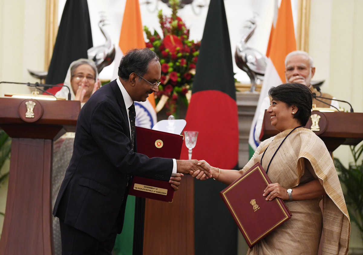 Adding to the growth of India's Northeast. Signing of Standard Operating Procedures for the use of Chattogram and Mongla ports of Bangladesh will enable easier transportation of goods to and from our Northeast. Fascinating products from the Northeast will get better markets!
