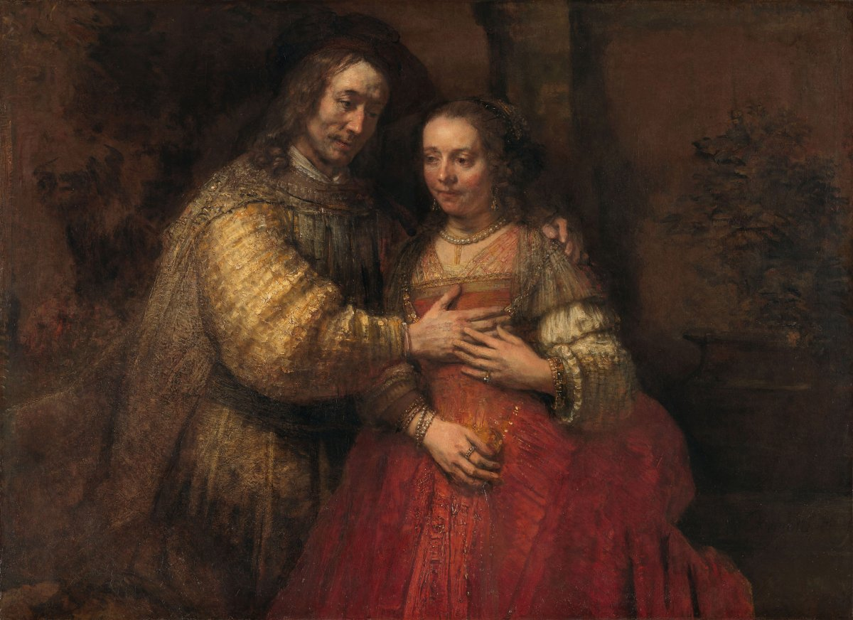 'Rembrandt goes so deep into the mysterious that he says things for which there are no words in any language'. Van Gogh had many 'heroes' whom he looked up to. Rembrandt was certainly one of them! #VanGoghRenews Isaac and Rebecca, Rembrandt van Rijn @rijksmuseum