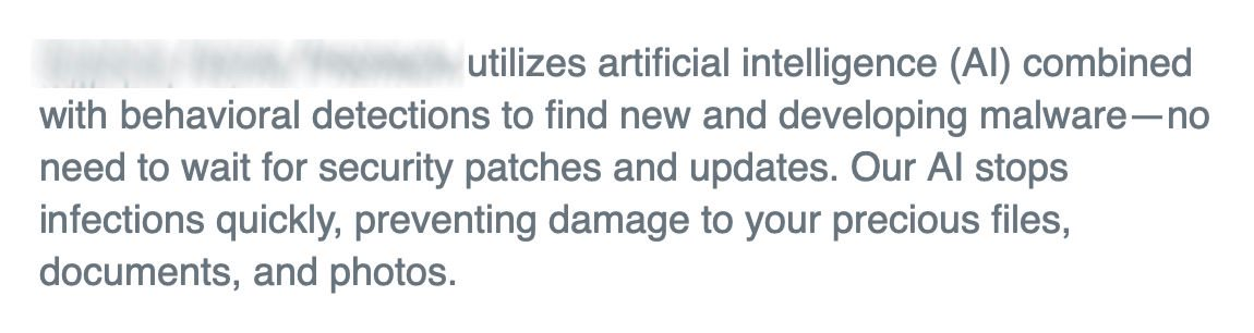 It would be easier to get people to follow 'Good Security Hygiene' if large vendors could refrain from Snake Oil messages. Apply security patches and software updates.