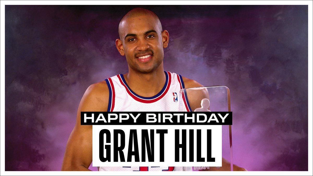 Join us in wishing a Happy 47th Birthday to 7x #NBAAllStar & @hoophall inductee, Grant Hill! #NBABDAY