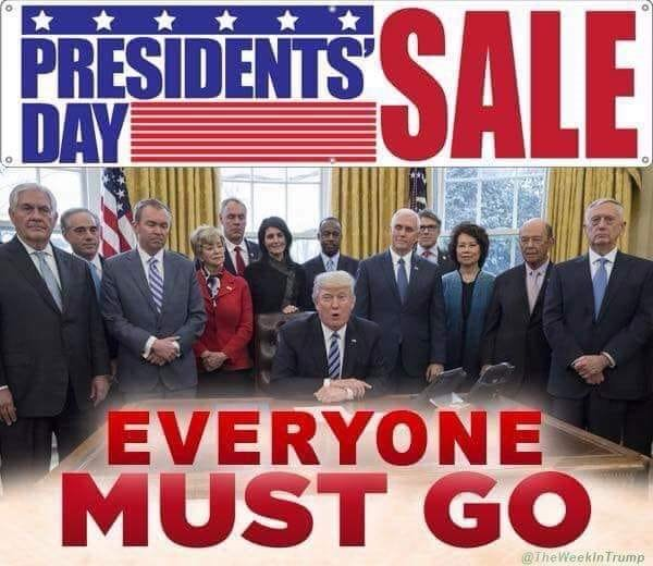 Impeachment clearance sale … Everyone Must Go.