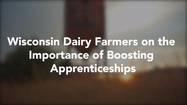 The Dairy Grazing Apprenticeship Program is training the next generation of farmers to lead our proud dairy industry into the future. I'm working to boost these apprenticeship programs so we can train people for a long-term career, rather than just a job.