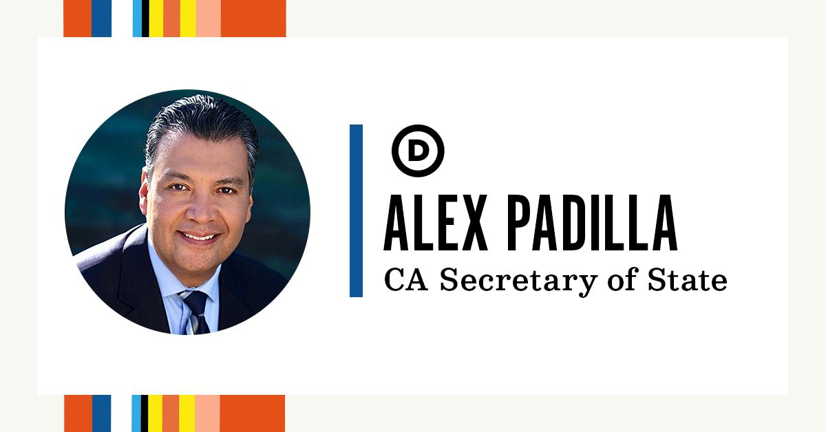 For today's #HispanicHeritageMonth highlight, we are honoring @AlexPadilla4CA for his extraordinary leadership as California's secretary of state.