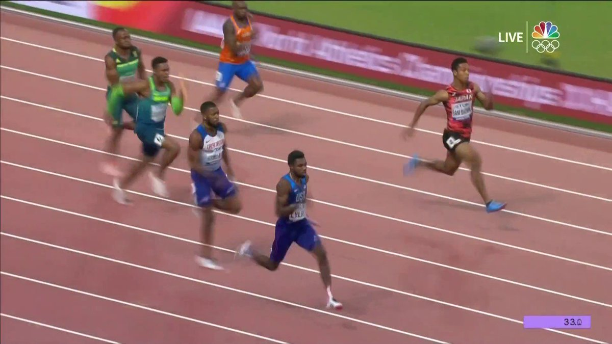 Holy smokes, what a race. 😳🤯 🇺🇸 is back on top in the men's 4x100m relay! #WorldAthleticsChamps
