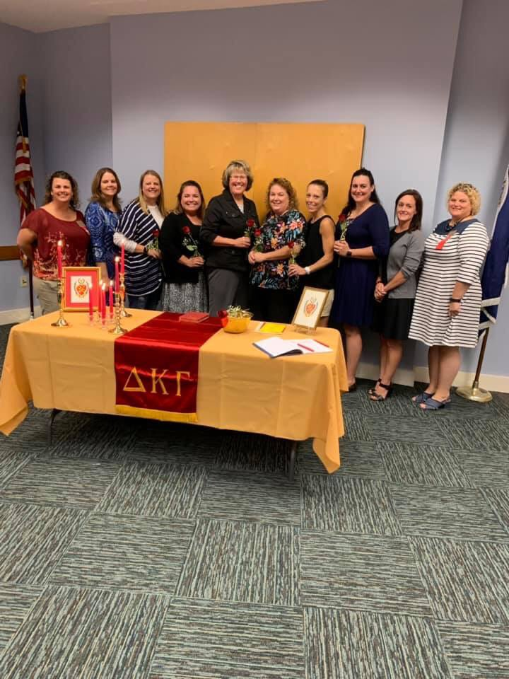Omega Chapter inducts six new members. #DKG_VA #DKG_SI