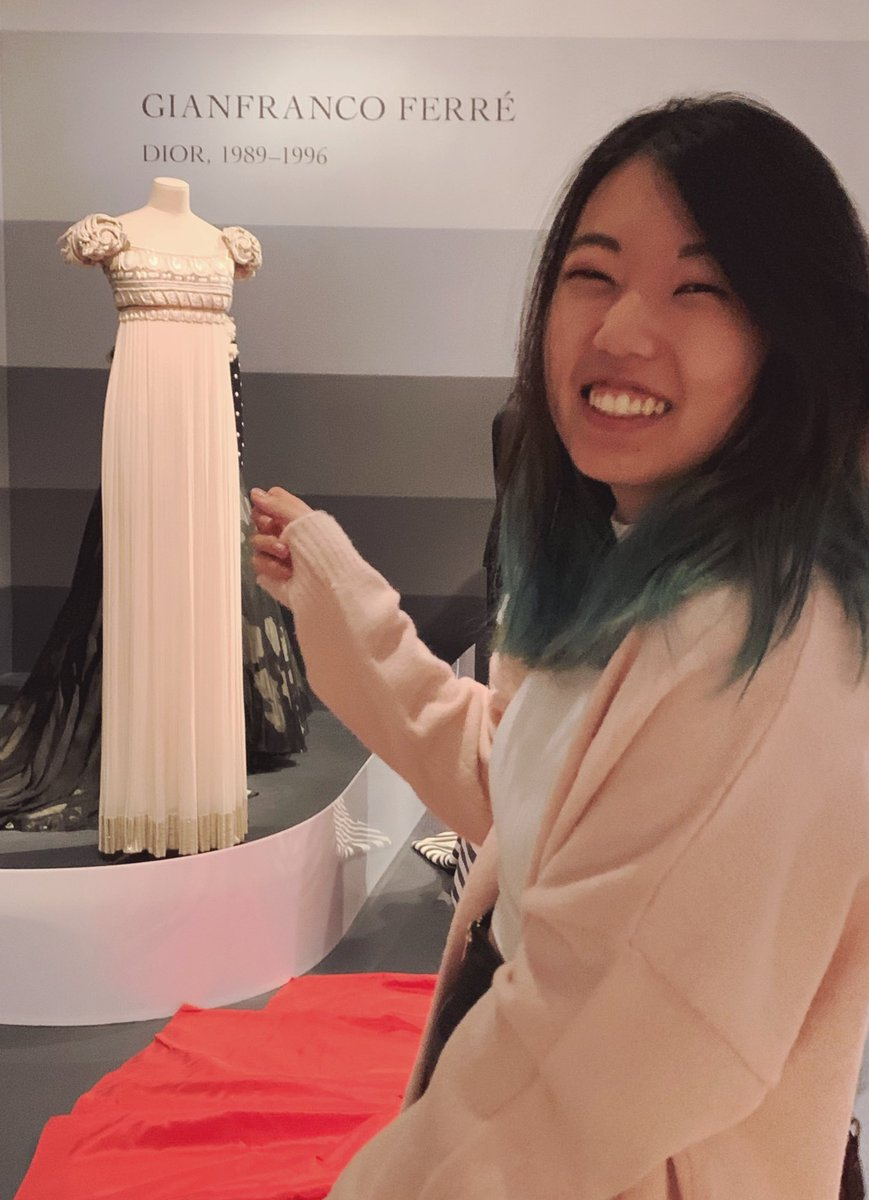 museum worker: you seem very excited are you studying fashion? :) me: it's um...that dress is...there's a pop culture reference that i love...