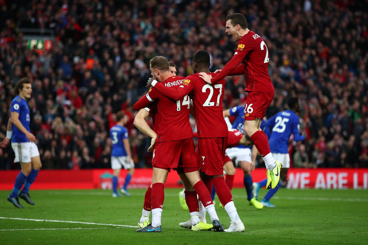 premier league on twitter full time liverpool 2 1 leicester late late drama as liverpool win their 17th pl match in a row livlei premier league on twitter full time