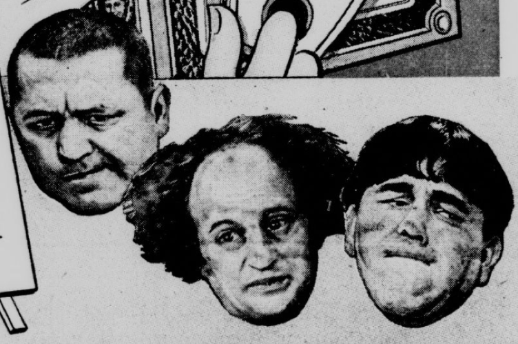 Larry Fine, the fuzzy-haired stooge in the middle, was born #OTD 1902 in Philadelphia. Many times a victim of the terrible-tempered Moe Howard, he was an original member of the Three Stooges. chroniclingamerica.loc.gov/lccn/sn8304546… #ChronAm