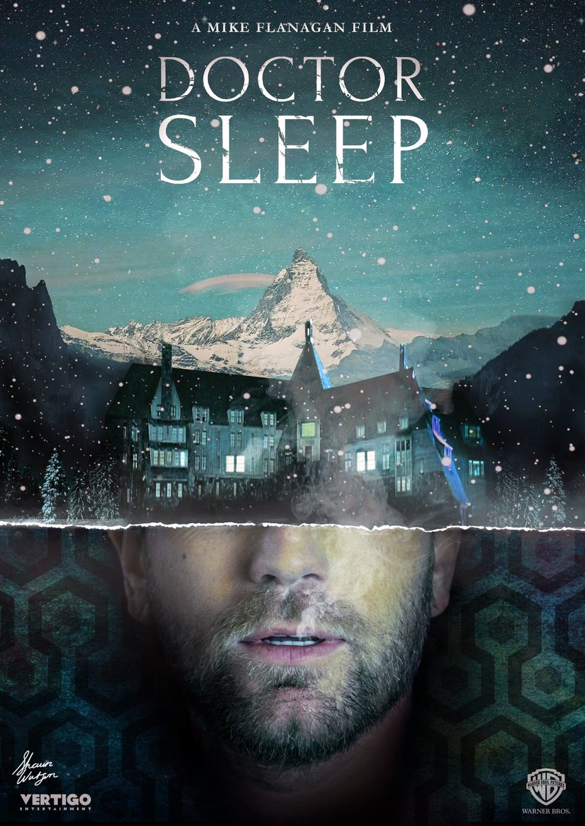 I absolutely adore this fan-made @DoctorSleepFilm poster by @shaunwatson87 ... going to hang it in my office next to @haunting