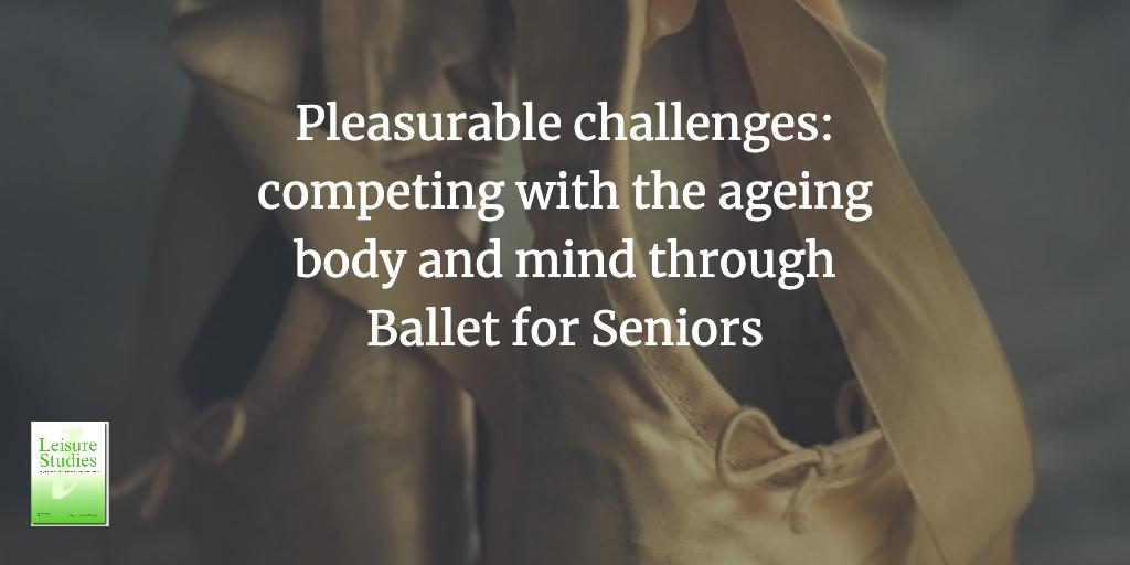 [New Article] One of the key findings of this case study was that more challenging class content led to a greater sense of satisfaction and pleasure among the class participants. #ballet #balletforseniors https://t.co/a5FHph8Onx https://t.co/lSJeVGIbvf