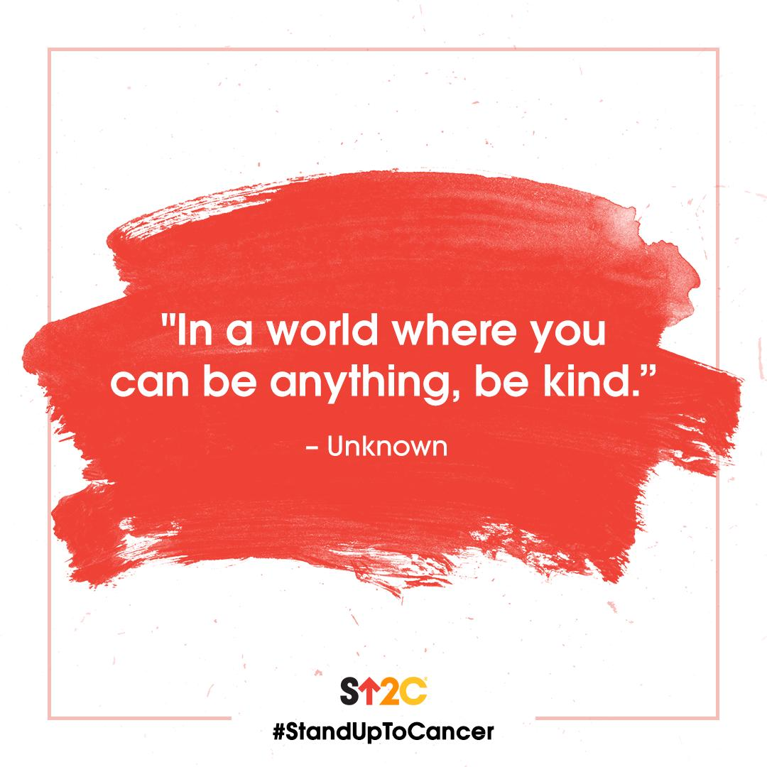 Today is #DoSomethingNiceDay! Whether you smile at a stranger or do an act of service for a loved one, spread some kindness in your community today. 🧡 #StandUpToCancer