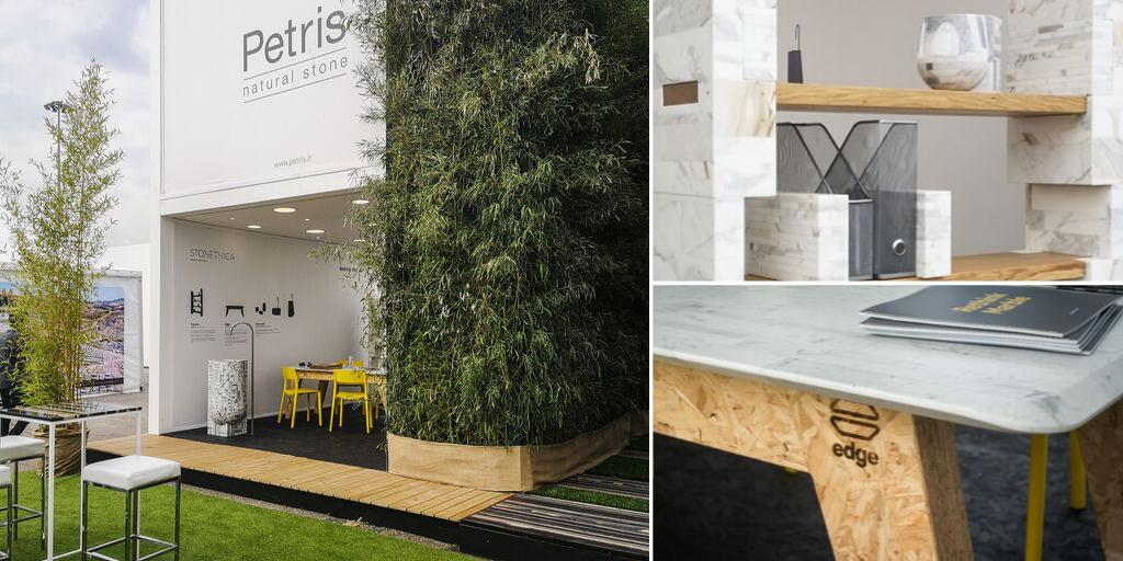 At @Marmo_mac #Stonethica's stand a design pieces exhibition made of #EcoSustainable 🌱 #marble. The Calacatta bookcase by #GiorgioGaudio, the White Carrara Edge table by @MarcoMirko, the Zebrino washbasin by #MorenoRatti. . Stonethica cares about Nature 🌏 . 📷 @Matteo_Dunchi https://t.co/tVVvqhxpoi
