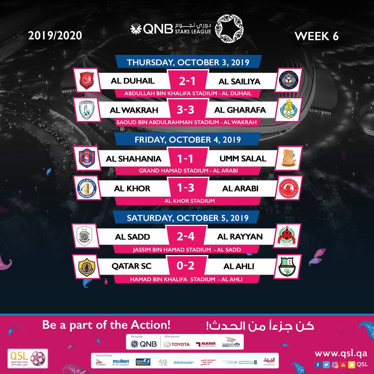 Gals have been scored in #QNBstarsLeague | week 6   Match of the week was ______x______ <br>http://pic.twitter.com/a61jOtHVXv