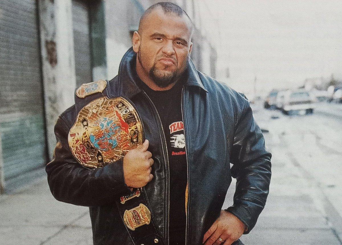 "Rasslin' History 101 on Twitter: """"The Human Suplex Machine"" Taz as the ECW World Heavyweight Champion back in 1999.… """