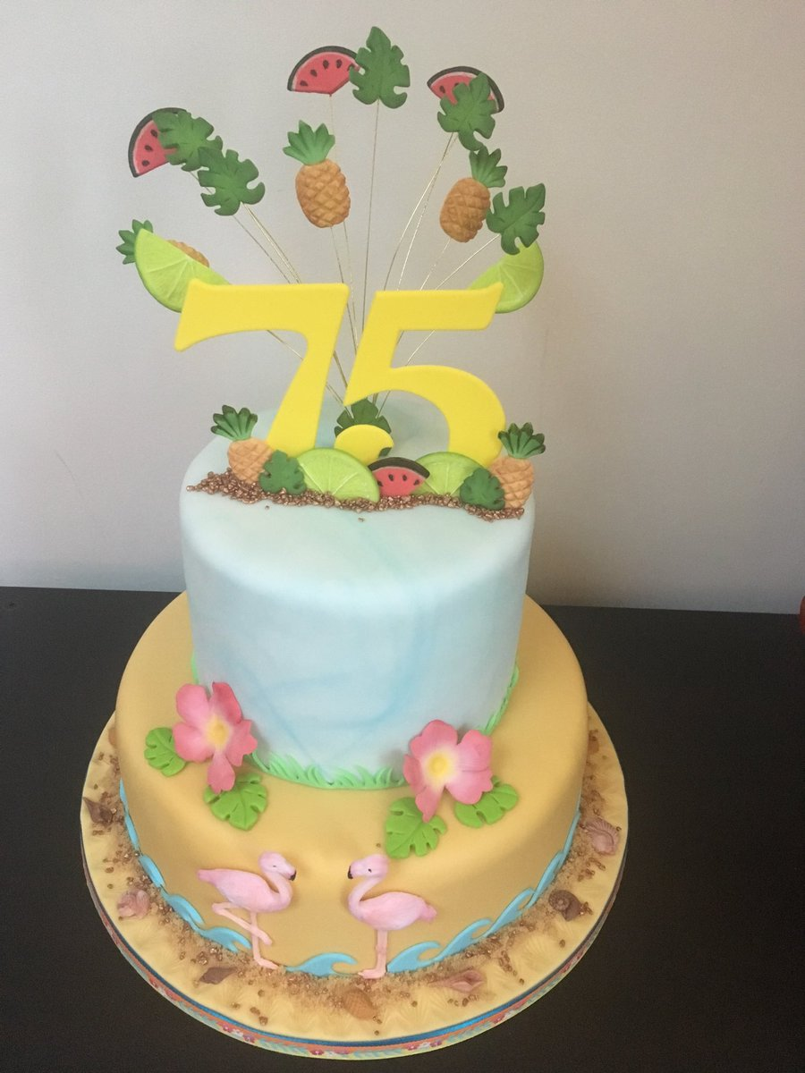 Admirable Louisa Bland On Twitter Tropical Birthday Cake For My Mums Funny Birthday Cards Online Bapapcheapnameinfo