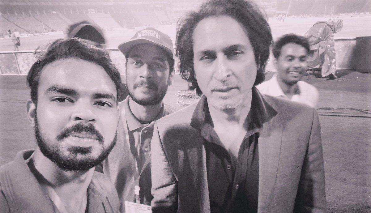 With @iramizraja #PAKvSL #PakVsSri #Lahore #bless