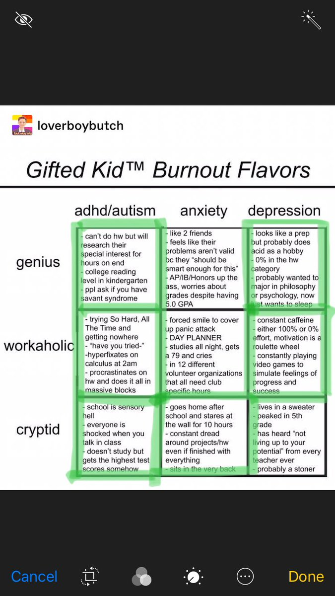 Eggpriest On Twitter This Gifted Kid Burnout Meme Feels Like A
